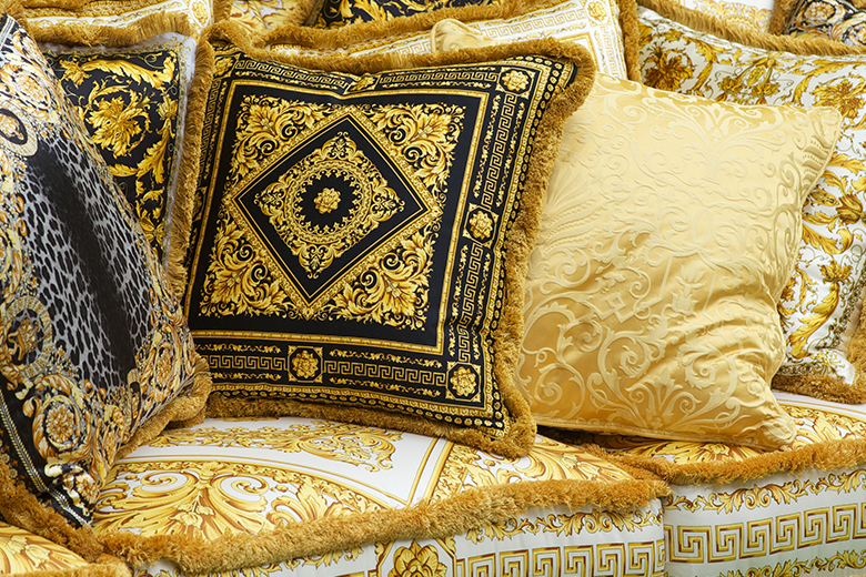 Luxury Versace Home Cushions | Story of Versace Furniture & Homeware | LuxDeco.com