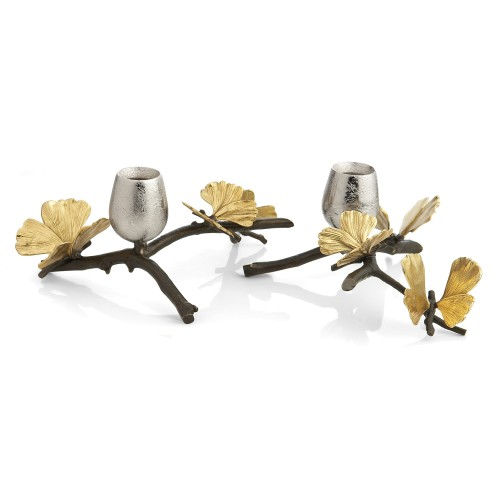 Butterfly Ginkgo Candle Holders