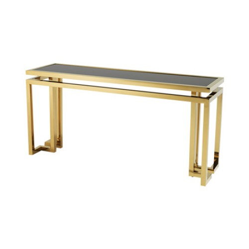 Palmer Console Table - Gold Finish Frame