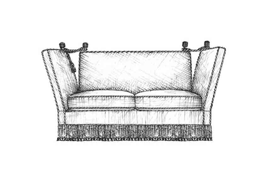 Knole Sofa | Guide to Luxury Sofas | Luxury Sofa Design Styles | LuxDeco.com Style Guide