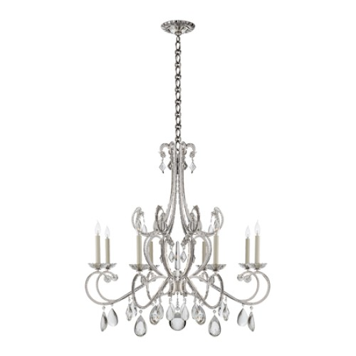 Montmartre Chandelier in Polished Nickel
