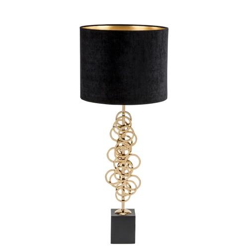 Genova Table Lamp - Gold - Silk - Black