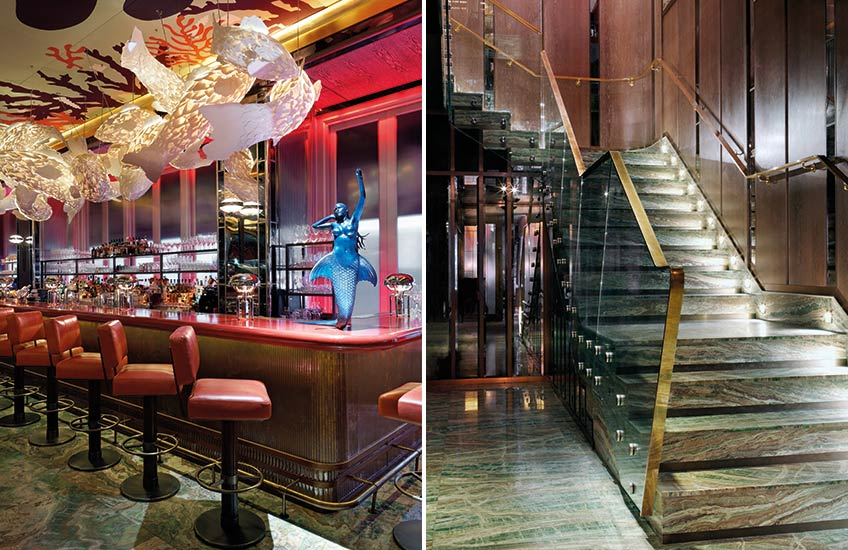 Sexy Fish – bar & stairs - London's Newest Luxury Restaurant Hot Spot - LuxDeco Style Guide
