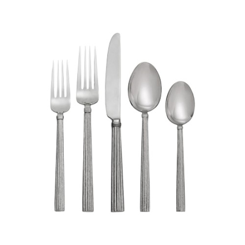 Wheat Silver 5 Piece Flatware Set