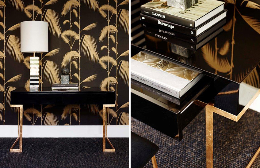 Luxury Black and Gold Interior Design - Read more on LuxDeco Style Guide