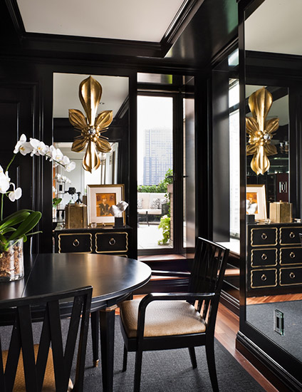 Luxury Black and Gold Interior Design - Find out more on LuxDeco Style Guide