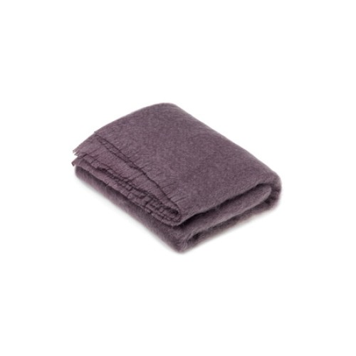 Mohair Throw Plum