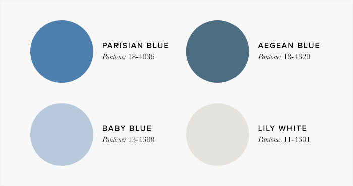 blue and white Bedroom Colour swatches - Colour Schemes & Combinations –LuxDeco Style Guide