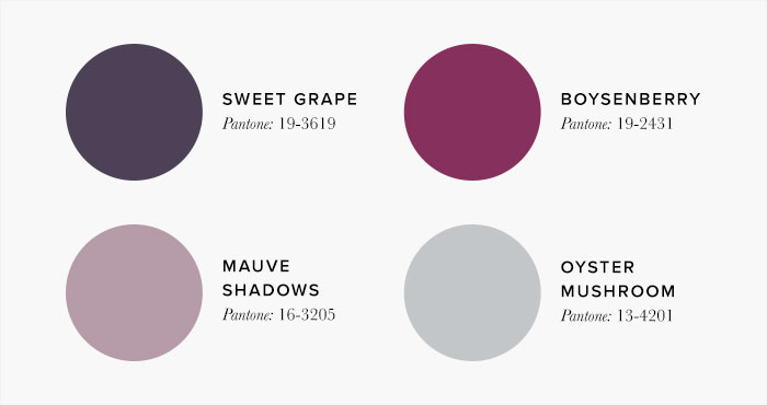 Purple and pink Bedroom Colour swatches - Colour Schemes & Combinations – LuxDeco Style Guide