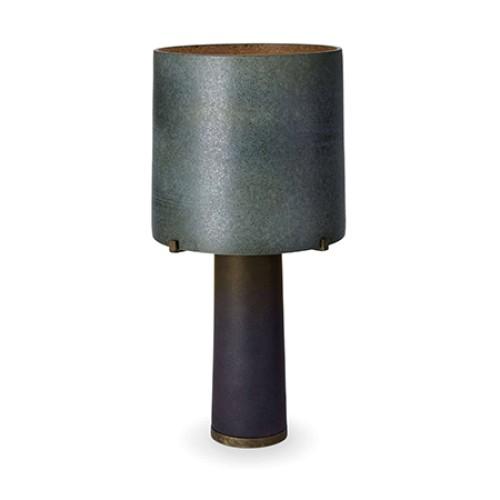 Pakal Table Lamp - Green Shade & Black Base