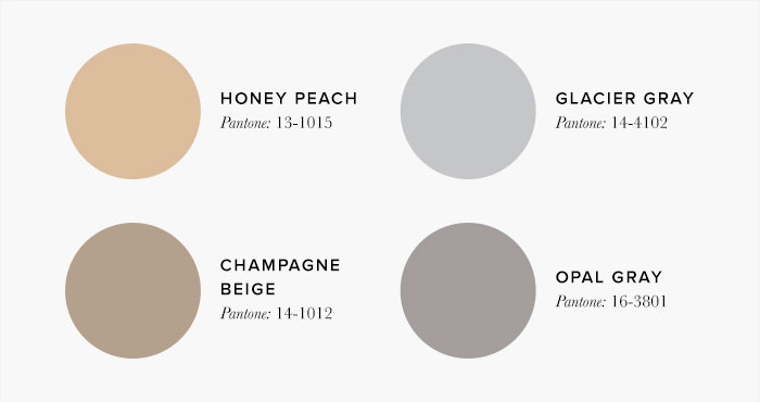 Peach and Grey Bedroom Colour swatches - Colour Schemes & Combinations – LuxDeco Style Guide