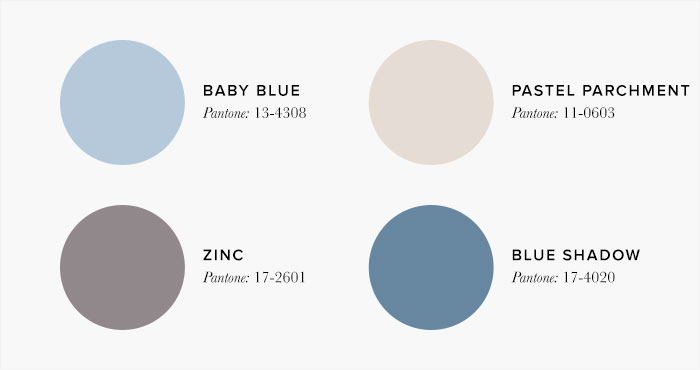 Baby Blue and Cream Bedroom Colour swatches - Colour Schemes & Combinations – LuxDeco Style Guide