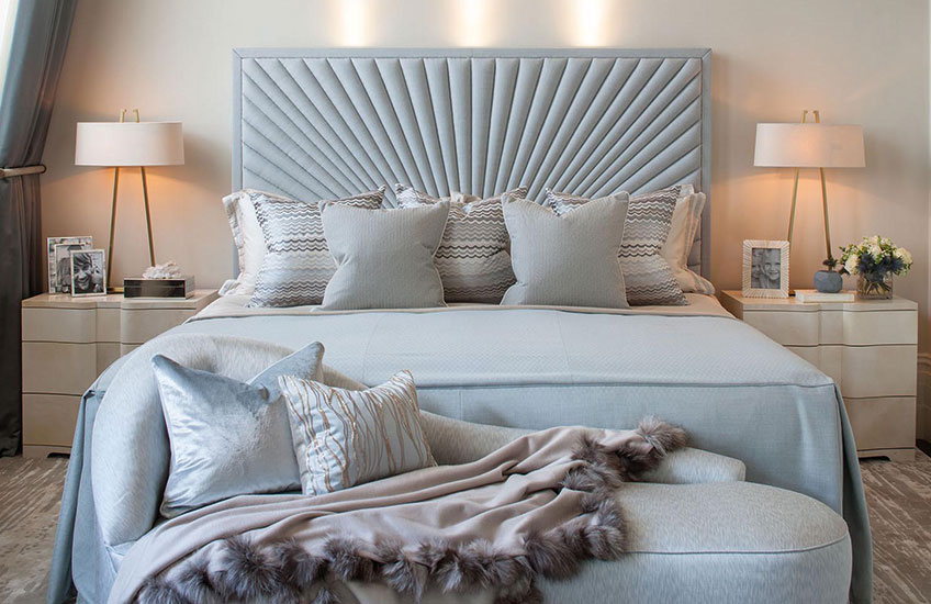 Baby Blue and Cream bedroom Colour Palettes - Colour Schemes & Combinations – LuxDeco Style Guide