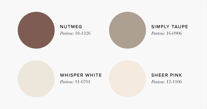brown and cream Bedroom Colour swatches - Colour Schemes & Combinations – LuxDeco Style Guide