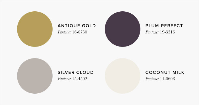 Purple and Gold Bedroom Colour swatches - Colour Schemes & Combinations – LuxDeco Style Guide