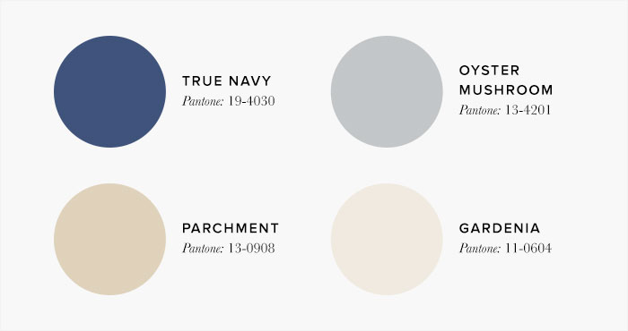 Neutral and Blue Bedroom Colour swatches - Colour Schemes & Combinations – LuxDeco Style Guide
