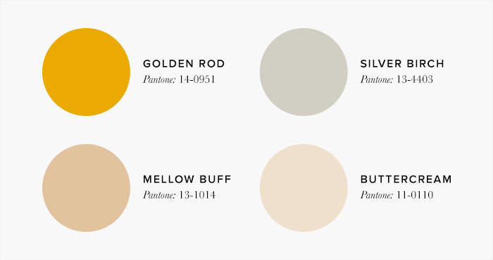 Neutral and Gold Bedroom Colour swatches - Colour Schemes & Combinations – LuxDeco Style Guide