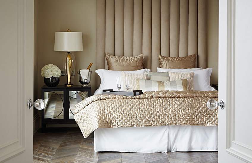 Neutral and Gold Bedroom Colour Palettes - Colour Schemes & Combinations – LuxDeco Style Guide