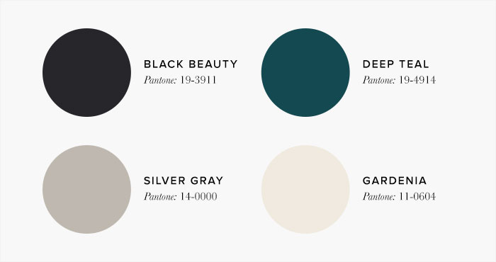 Grey and Teal Bedroom Colour swatches - Colour Schemes & Combinations – LuxDeco Style Guide
