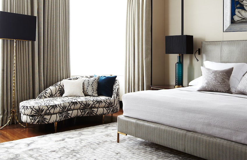 Grey and Teal Bedroom Colour Palettes - Colour Schemes & Combinations – LuxDeco Style Guide
