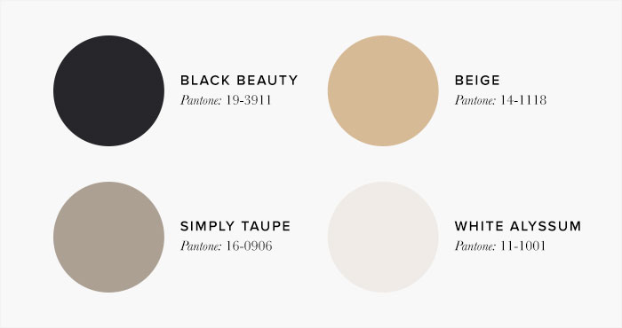 White and Black Bedroom Colour swatches - Colour Schemes & Combinations – LuxDeco Style Guide