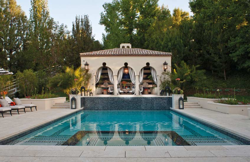 10 Luxury Swimming Pool Design Ideas & Inspiration | Kris Jenners Swimming Pool | LuxDeco.com Style Guide
