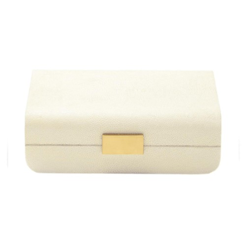 Cream Shagreen Decorative Box