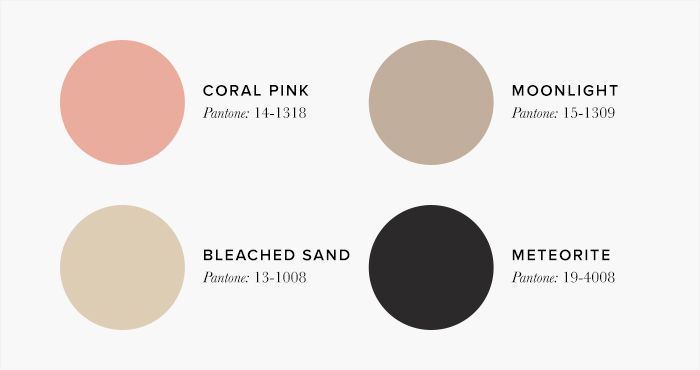 Pink and Beige Living Room Colour swatches - Lounge Colour Schemes & Colour Combination ideas – LuxDeco Style Guide