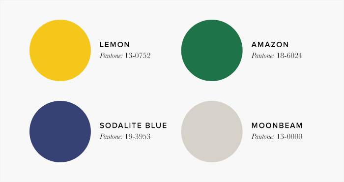 Yellow, Blue and green Living Room Colour Swatches - Lounge Colour Schemes & Colour Combination ideas – LuxDeco Style Guide