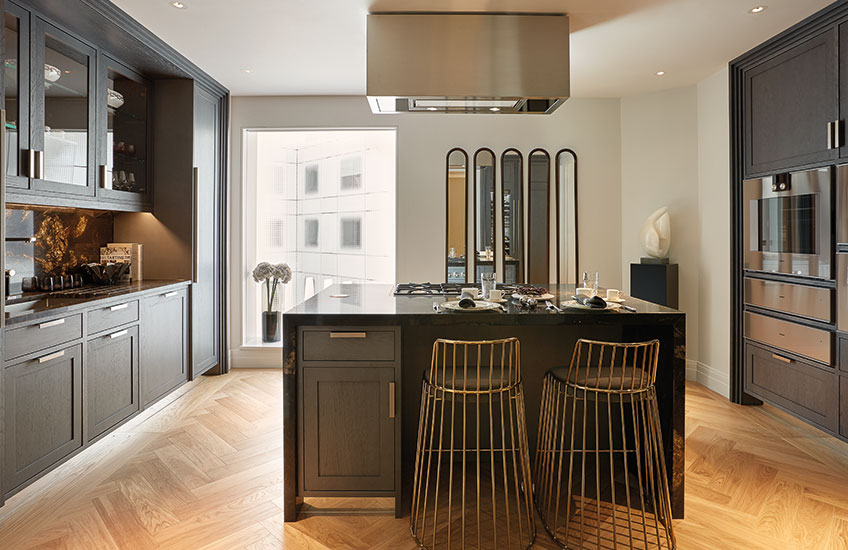 Ten Trinity Square show apartment kitchen | Luxury Show Apartment Interiors | LuxDeco Style Guide