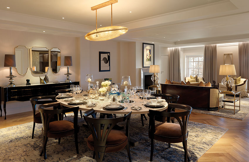 Ten Trinity Square show apartment Dining Room | Luxury Show Apartment Interiors | LuxDeco Style Guide