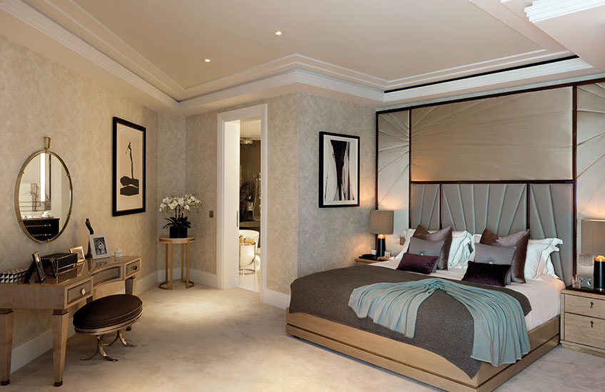 Ten Trinity Square show apartment Bedroom | Luxury Show Apartment Interiors | LuxDeco Style Guide