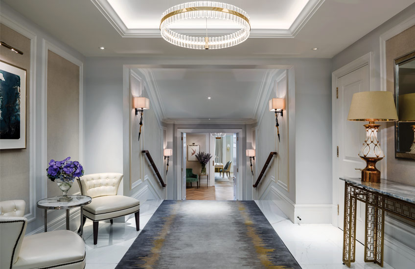 The Langham Hotel London's Sterling Suite - Hallway - LuxDeco Style Guide