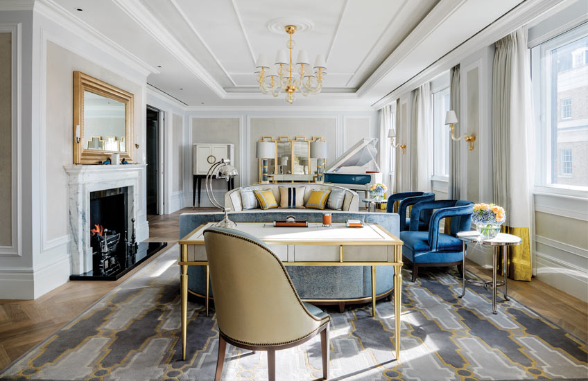The Langham Hotel London's Sterling Suite - Drawing Room   - LuxDeco Style Guide