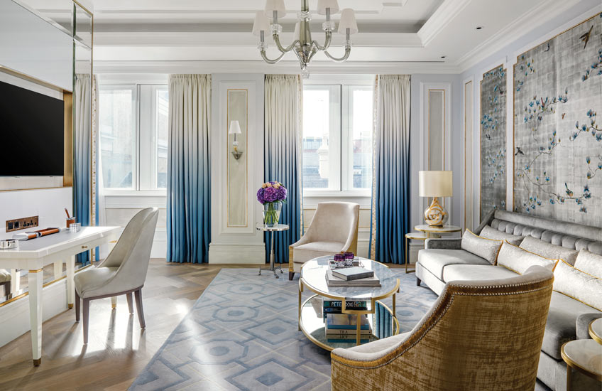 The Langham Hotel London's Sterling Suite - Master Bedroom lounge - LuxDeco Style Guide