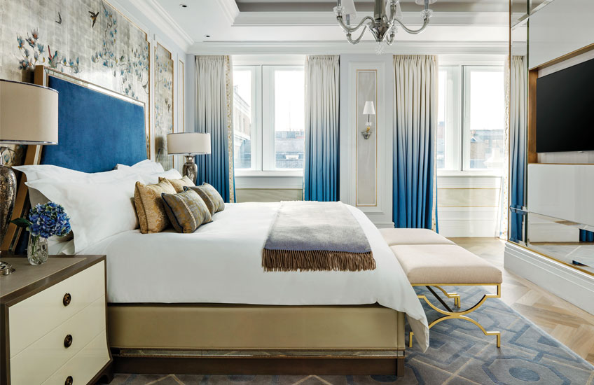 The Langham Hotel London's Sterling Suite - Master Bedroom - LuxDeco Style Guide