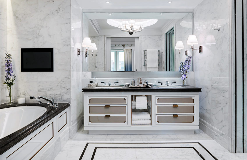 The Langham Hotel London's Sterling Suite - Master  Bathroom - LuxDeco Style Guide