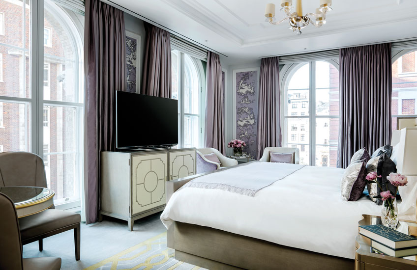 The Langham Hotel London's Sterling Suite - bedroom - LuxDeco Style Guide
