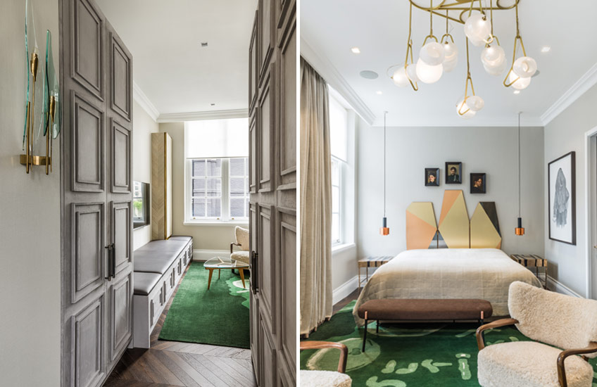 Squat London – Master Bedroom - Nilufar Gallery & Shalini Misra - LuxDeco Style Guide