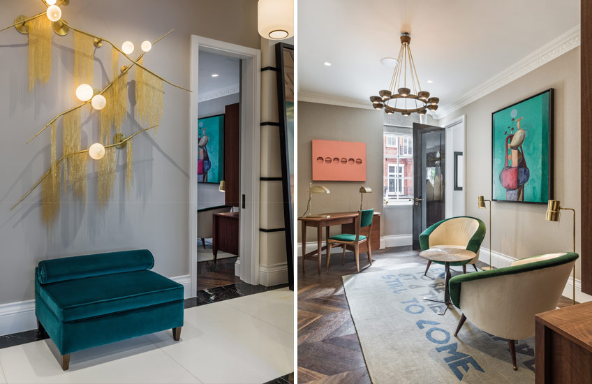 Squat London – Hallway:Living Room – Nilufar Gallery & Shalini Misra - LuxDeco Style Guide