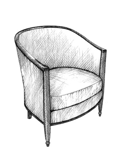 The Best of Chair Design - Top 10 Chair Styles - Art Deco curved armchair