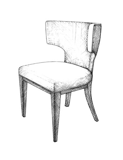 The Best of Chair Design - Top 10 Chair Styles - Klismos-style accent chair