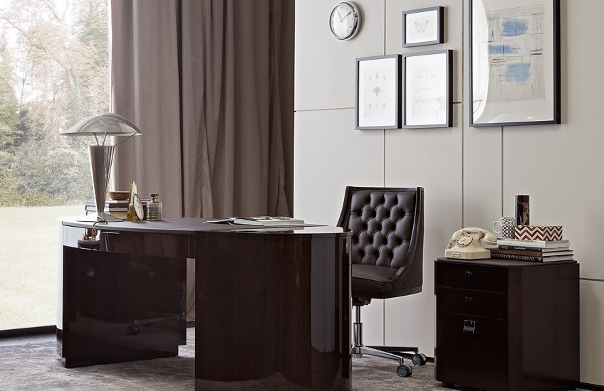 This Season's Must Have Desk Styles For Your Home | The Curved Desk | LuxDeco.com Style Guide