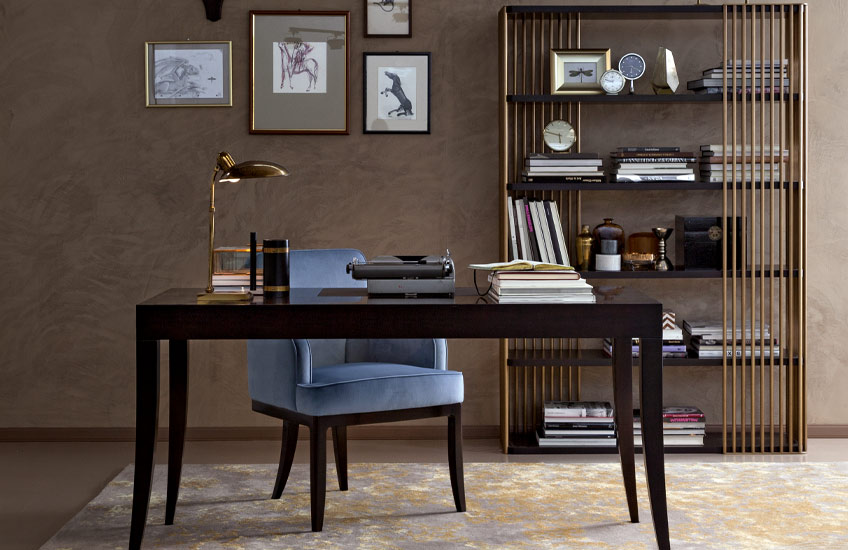 This Season's Must Have Desk Styles For Your Home | The Sleek Silhouette Desk | LuxDeco.com Style Guide