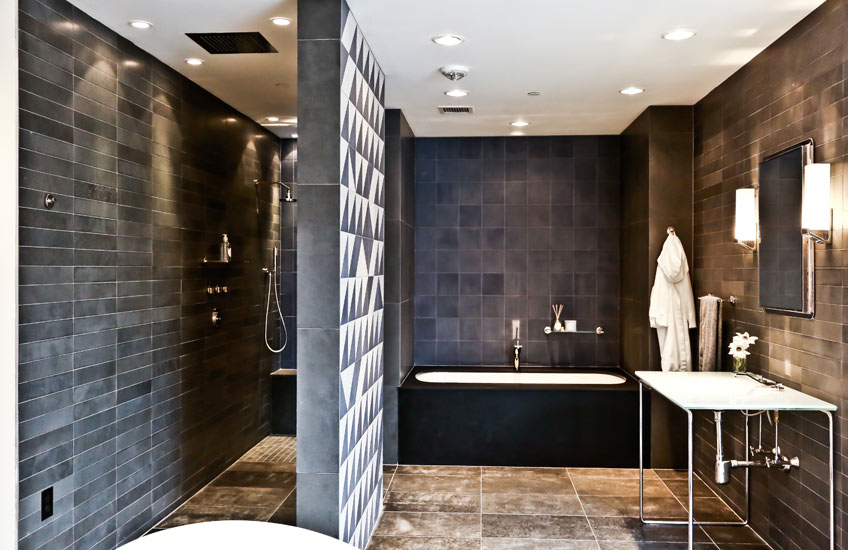 Expert Tips on Perfect Bathroom Design – Waterworks Grey Bathroom – LuxDeco.com Style Guide