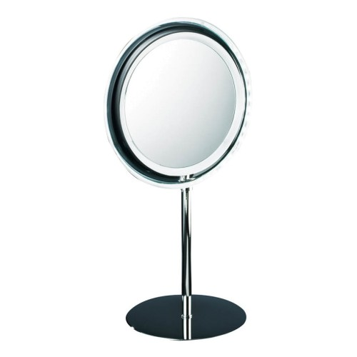 Round Battery Illuminated Cosmetic/Shaving Mirror