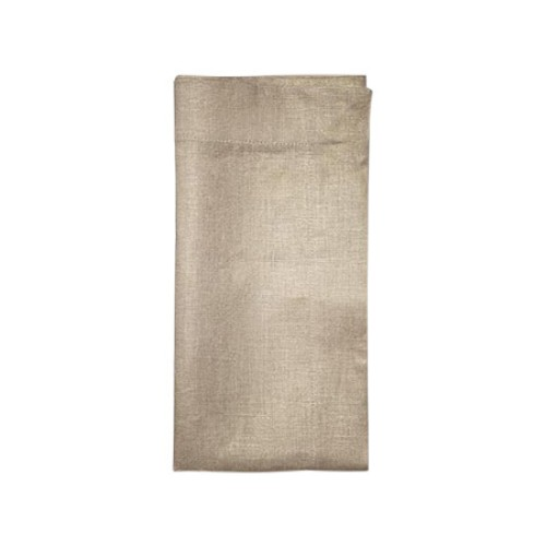 Metallic Linen Napkin Natural and Gold