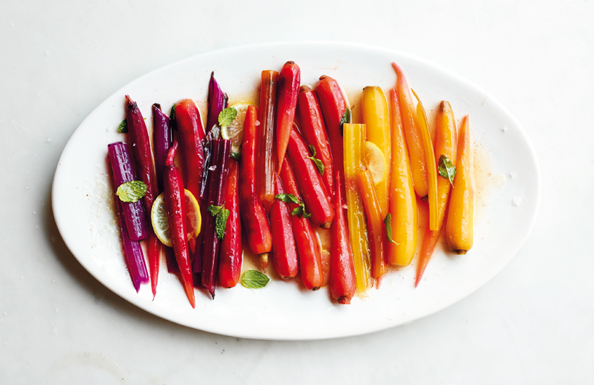 Rainbow Carrots and Chard –Martha Stewart's Favourite Christmas Dinner Recipes –LuxDeco.com Style Guide