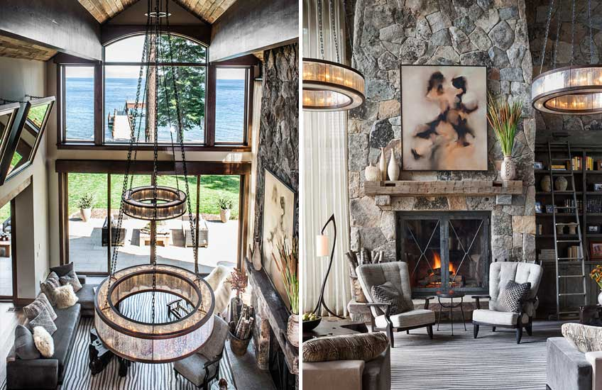 Jeff Andrews Lake Tahoe Cabin Interior Design – Cabin Living Room Design – LuxDeco.com Style Guide