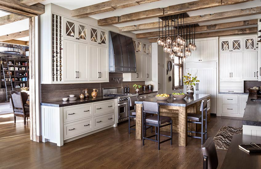 Jeff Andrews Lake Tahoe Cabin Interior Design – Cabin Kitchen Inspiration – LuxDeco.com Style Guide
